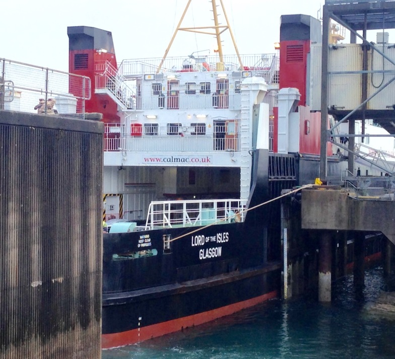 Taking the Armadale-Mallaig ferry from Skye back to the mainland in preparation for the next walk.