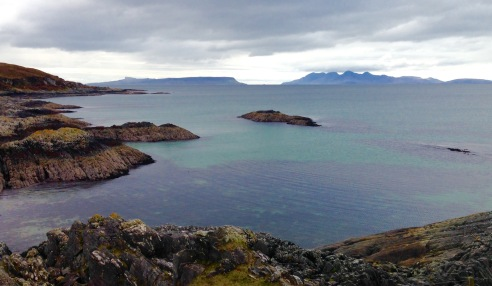 Approaching Mallaig; view to the Small Isles.