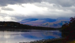 The right angle bend in Loch Eil; near Corpach.
