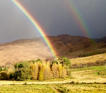 Double rainbow at Appin.