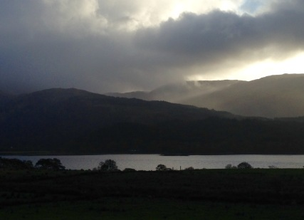 Approaching Loch Creran and the Creagan Bridge from the North.