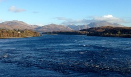 Loch Etive from the Connel Bridge.