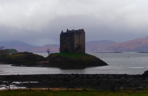 Castle Stalker at Portnacroish.