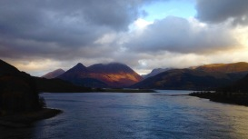 Loch Leven from the Ballachulish Bridge; late afternoon.