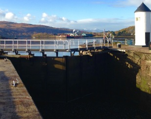 Southern end of the Caledonian Canal, at Corpach.