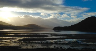 The right angle bend in Loch Eil, at Caol.