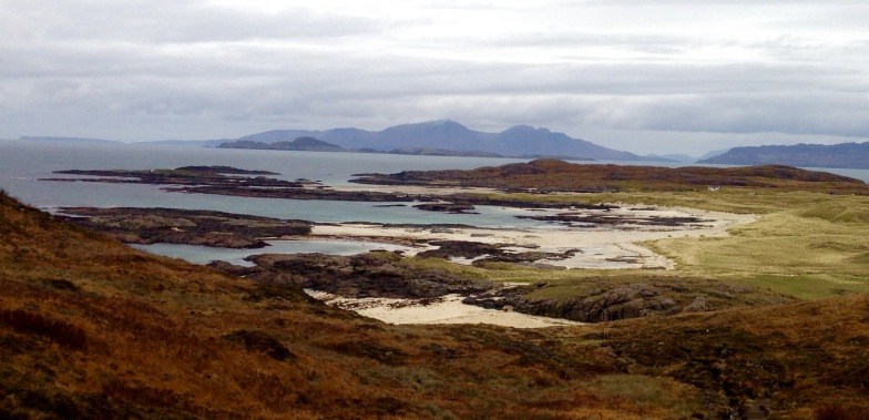 Sanna Bay and the Small Isles beyond.