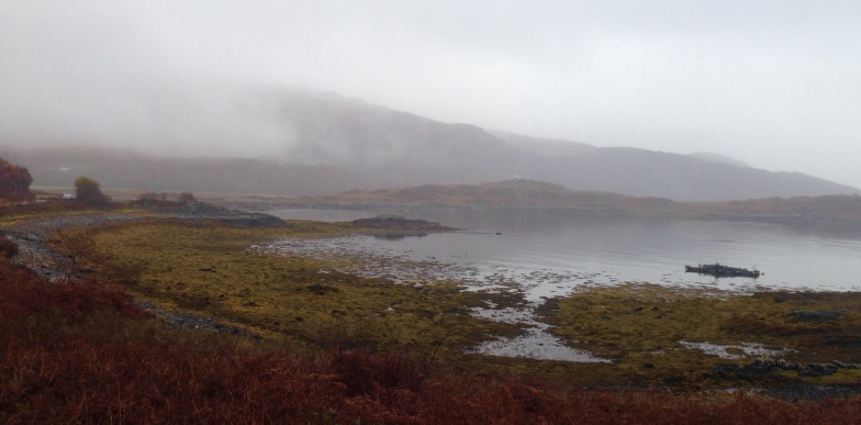 The Ardnamurchan peninsula in fog and rain; a memorable walk from Kilchoan to Salen.