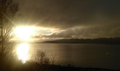Early start from Lochaline: sunrise and hoar frost.