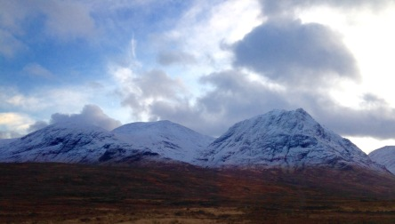 A hard frost and overnight snow on the hills.