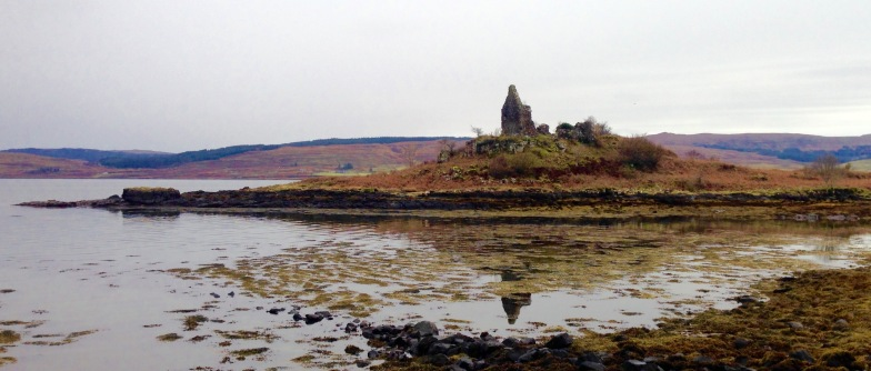 The Sound of Mull; ruins of an 19th century tax collector's house.