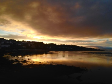 Sunrise at Lochgilphead.