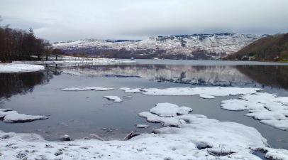 Walking beside Loch Melfort.