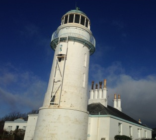 The lighthouse at Toward Point; strange perspective.