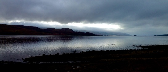 Silver light over Loch Fyne, from Furnace.