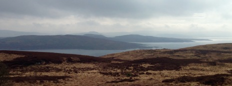 View to the South, looking across the mouth of West Loch Tarbert.