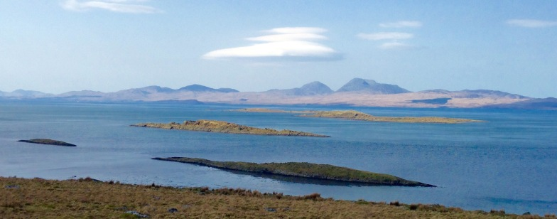 The Paps of Jura from Kilmory.
