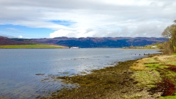 The Kyles of Bute, with the Colintraive to Bute ferry.