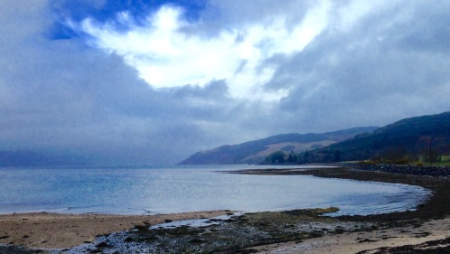 Loch Fyne from Otter Ferry; early morning rain clearing.