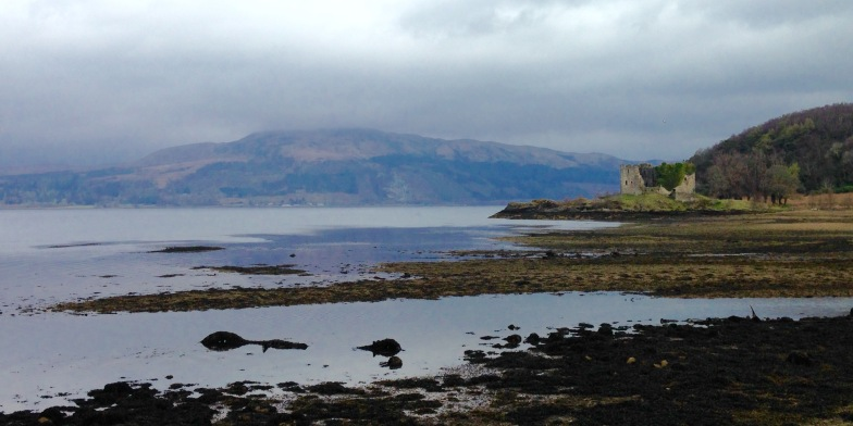 Lachlan Castle on Loch Fyne; where I turned inland to walk up to Strachur.