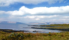 Looking across the Sound of Jura to the Isle of Jura.