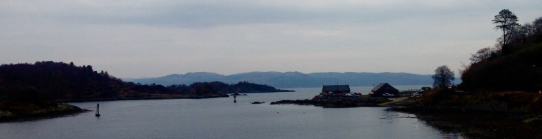 End of the previous Walk 49: looking across Loch Fyne from Tarbert to Portavadie.
