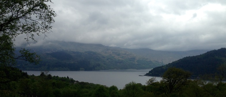 Looking from Portincaple to the point where Loch Goil and Loch Long meet.