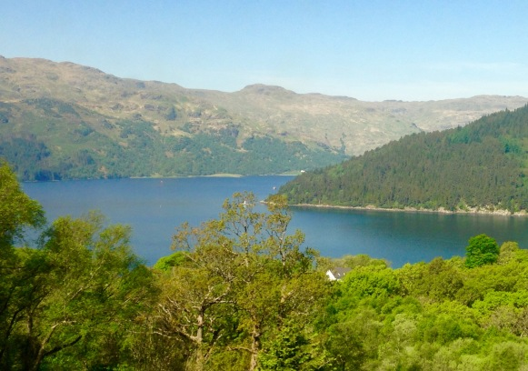 Same view, different day: from Portincaple to the point where Loch Goil and Loch Long meet.